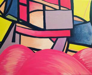 abstract pink landscape by 51mrsnickjonas94