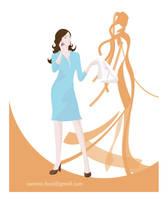 'haciendo como que trabaja' by francisca-osornio