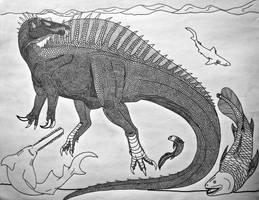 Spinosaurus aegypticus by Saberrex