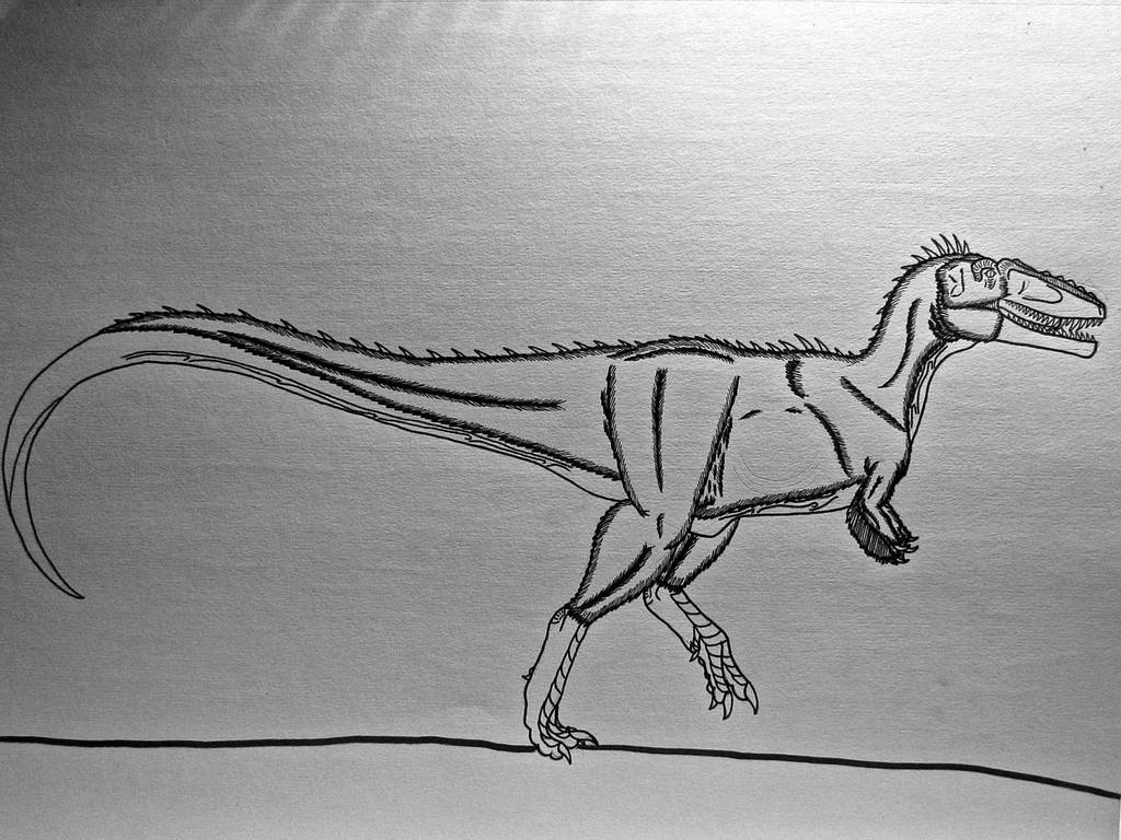 Qianzhousaurus sinensis by Saberrex