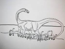 Massospondylus carinatus by Saberrex