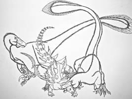 Utahraptor vs Gastonia by Saberrex