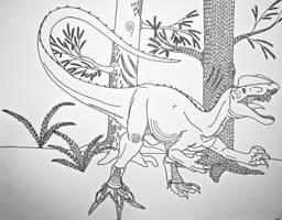 Dinovember #6- Dilophosaurus wetherilli by Saberrex
