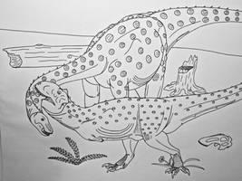 Dinovember #13- Majungssaurus crenatissimus by Saberrex