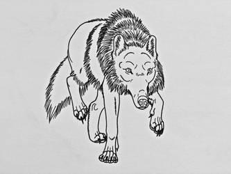 Wolf Studies 8- Stalking Wolf by Saberrex