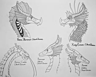 Dragons of House Cloud-Dancer by Saberrex