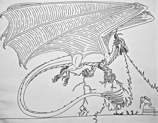 Sauros rampages by Saberrex