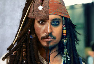 Johnny Depp and me as Jack Sparrow by Ufotinik