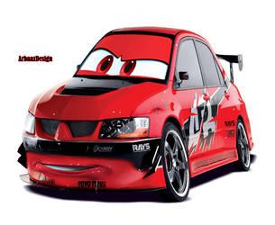 Mitsubishi Evo by Warbaaz1411