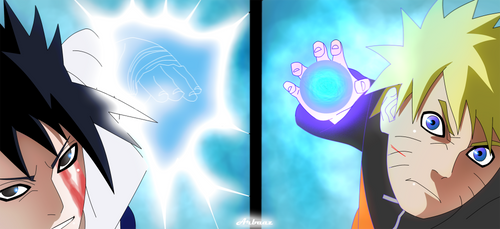 Chidori vs Rasengan by Warbaaz1411