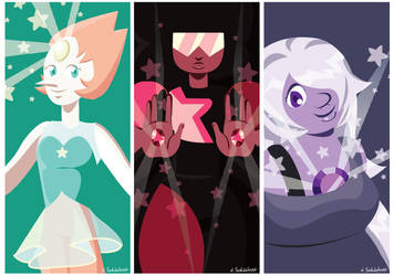 The Crystal Gems by Schlissel-art