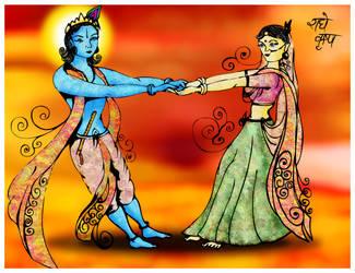 Radhe Krishna by archys187