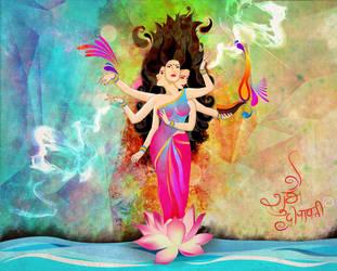 Diwali with Goddess Lakshmi by archys187