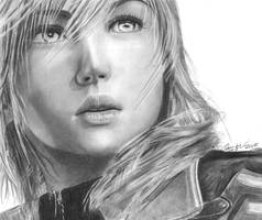Lightning Final Fantasy XIII by Tifta