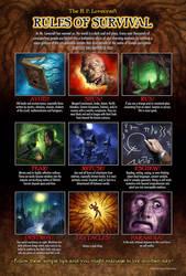 Lovecraft Survival poster by PatrickMcEvoy