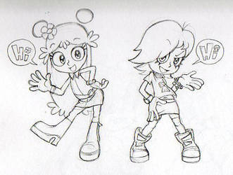 Ami and Yumi Sketch by Count-Conch