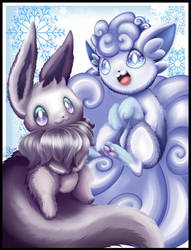 [Pokemon]Eevee Shiny And Vulpix Alola by Gartendrache