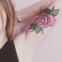 Rose tattoo by badlightning