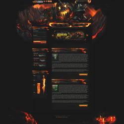 Molten Fiery Web Design by dustinperolio