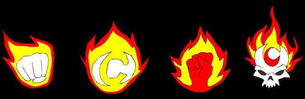 super hero logos by queenElsafan2015