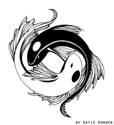 yin-yang koi tattoo design by ash-night-k