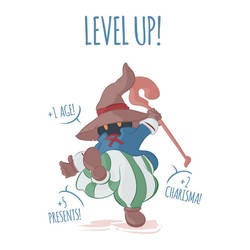 Level Up Birthday Card - Vivi Final Fantasy by DonCorgi