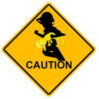 Caution: Bro Crossing by Jimangable