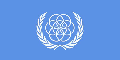 Flag of Earth - Concept Two (U.N. Flag style) by LanceShield