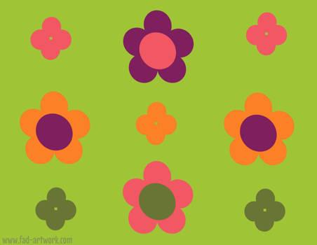 1960s Flowers Pattern by Fad-Artwork