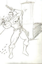 Punisher Sketch by RyanKeymaster
