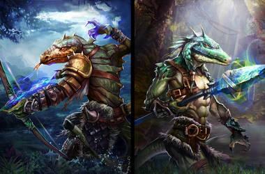 Lizard Warriors by robekka
