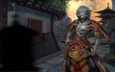 Arashi the Wolf Samurai by robekka