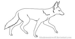 Jackal Lineart by Akudemonicwolf