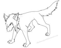 SceneEmo canine lineart by Akudemonicwolf
