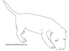 American Pitbull Terrier puppy by Akudemonicwolf