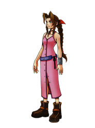 Aerith KH1 Render by Stray-Arrows