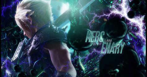 Mercenary Cloud Strife FFVII Remake Signature by Stray-Arrows
