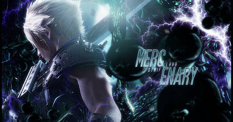 Mercenary Cloud Strife FFVII Remake Signature V2 by Stray-Arrows
