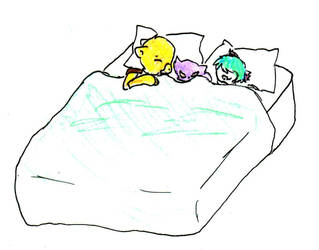 Team Mercury sleeping by Misa-chu