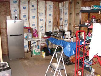 Kitchen area of cabin by Mistgod