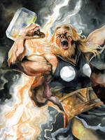 The Mighty Thor,God of Thunder by EmegE