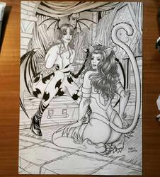 Morrigan  Felicia by Licantropo82