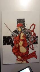 Elektra  Daredevil  by Licantropo82