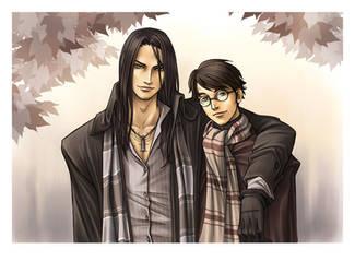 Sirius et Harry by HitoFanart