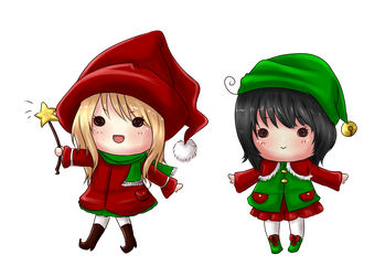 Christmas Witch And Her LIttle Helper by RanChu-Obscure