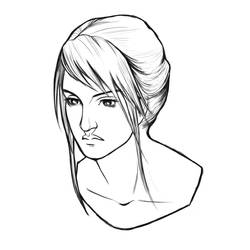 Woman Portrait Lines by AshenCreative