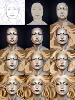 Golden Elf - Process by AshenCreative