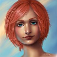 Blue Eyes Revised by AshenCreative