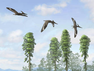 Pteranodon Trio by EWilloughby
