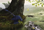 Microraptor Piscivory by EWilloughby